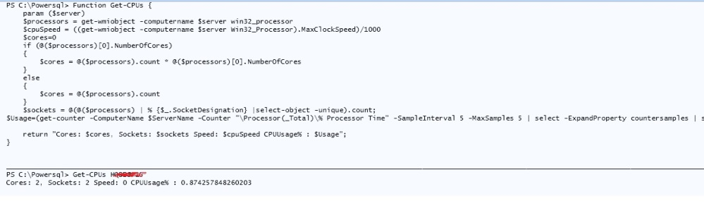 PowerShell - Get CPU Details and its Usage