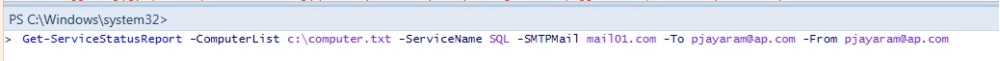 PowerShell - Script to Monitor a Service on a Group of servers - HTML Formatted Email Output (1/2)
