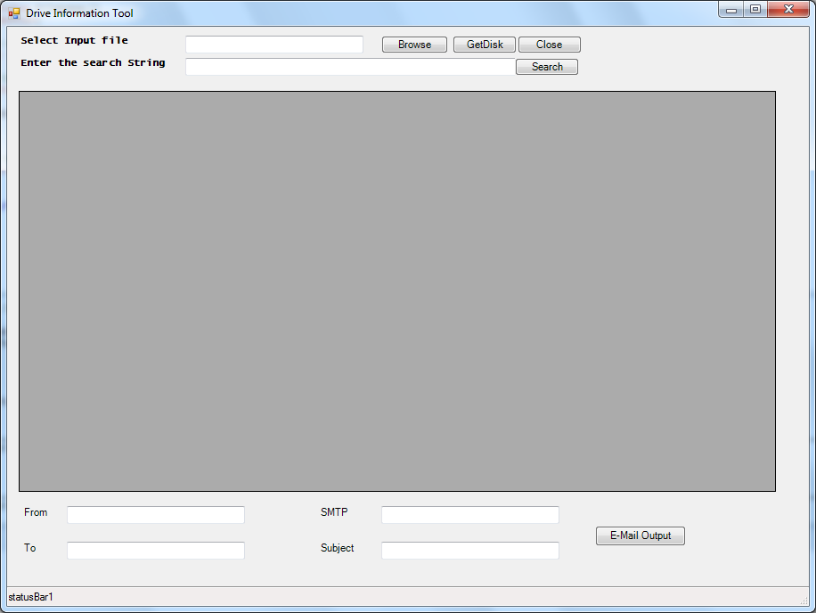 Disk Space GUI Tool - Multiple Servers with GridView and Email Output (1/3)