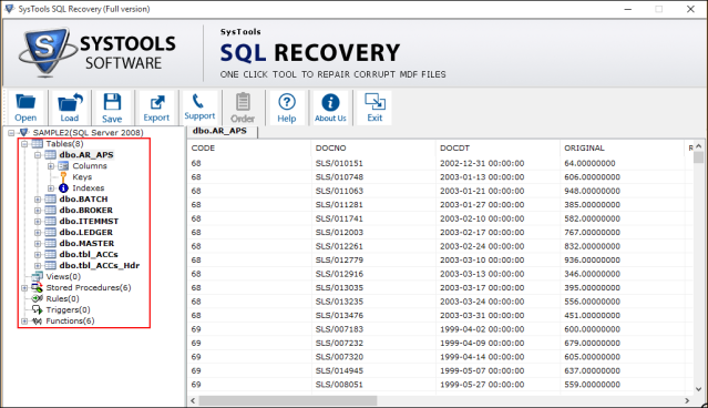 Recover database without backup