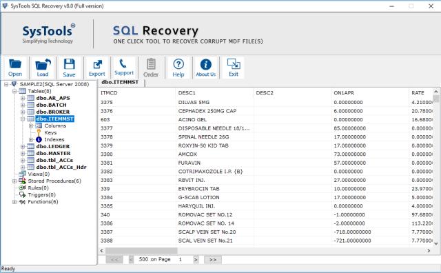 preview sql data