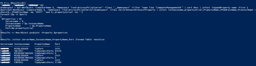 Automation to list all TCP static and dynamic ports of SQL